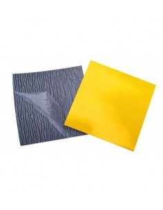 Foam laminated with yellow...